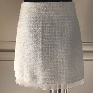 Skirt by A.B.S, Mini, Tweeds, off white,size 6